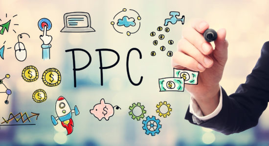 Businessman Drawing Ppc - Pay Per Click Concept